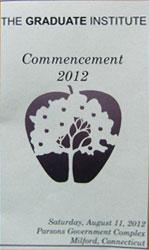 The Graduate Institute Commencement 2012