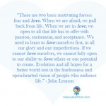 Love Over Fear - John Lennon Quote